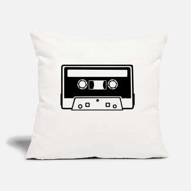 "Tape Tape - Cassette - Throw Pillow Cover 18"" x 18"""