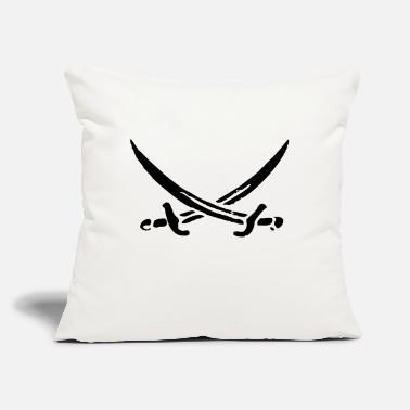 "Sword sword - swords - pirate - Throw Pillow Cover 18"" x 18"""