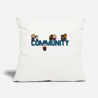 "Community community - Throw Pillow Cover 18"" x 18"""