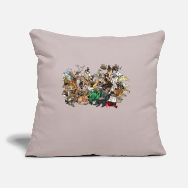 "Group the group - Throw Pillow Cover 18"" x 18"""