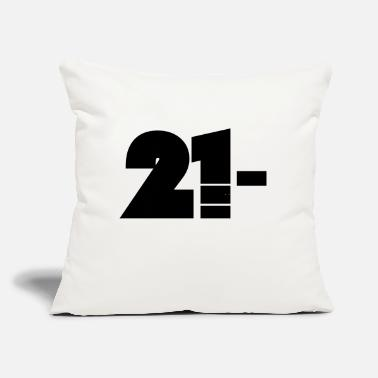 "21 21 - Throw Pillow Cover 18"" x 18"""