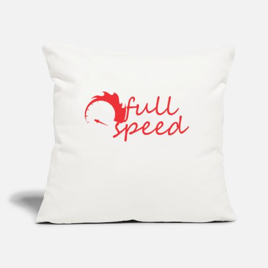 "Speed Metal Pillow Cases - needle speed - Throw Pillow Cover 18"" x 18"" natural white"