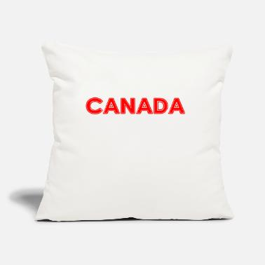 "National Colours Canada - Montreal - National Colours - Vancouver - Throw Pillow Cover 18"" x 18"""
