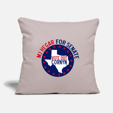 "MJ Hegar for Senate - Throw Pillow Cover 18"" x 18"""