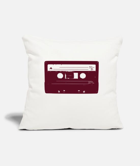 "School Pillow Cases - cassette - Throw Pillow Cover 18"" x 18"" natural white"