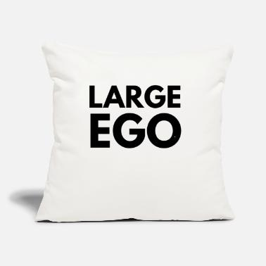 "Large ego large - Throw Pillow Cover 18"" x 18"""