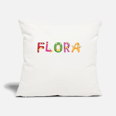 "Flora Flora - Throw Pillow Cover 18"" x 18"""