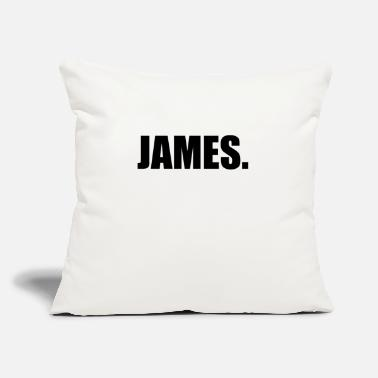 "James JAMES. - Throw Pillow Cover 18"" x 18"""