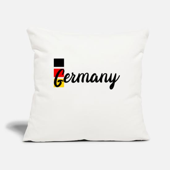 "Flag Of Germany Pillow Cases - Germany - Throw Pillow Cover 18"" x 18"" natural white"