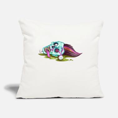 "Evil Halloween Zombie Dead Face - Throw Pillow Cover 18"" x 18"""