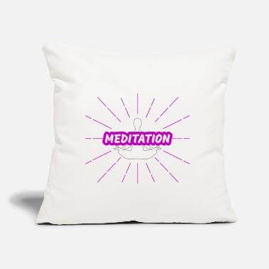 "Meditating Meditation - Throw Pillow Cover 18"" x 18"""
