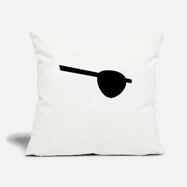 "Eye Patch Eye patch for pirates - Throw Pillow Cover 18"" x 18"""