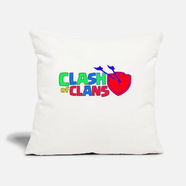 "Clash Of Clans Clash of Clans logo Love - Throw Pillow Cover 18"" x 18"""