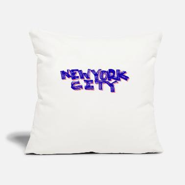 "Bronx New York City Fat Marker (Red, White and Blue) - Throw Pillow Cover 18"" x 18"""