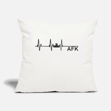 "Going AFK is like dying - Throw Pillow Cover 18"" x 18"""