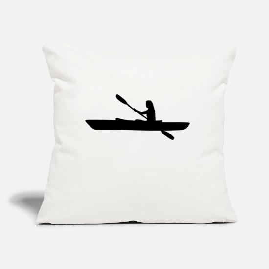 "Kayak Pillow Cases - Kayak, kayaker - woman - Throw Pillow Cover 18"" x 18"" natural white"