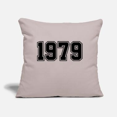 "Year Of Birth 1979 | Year of Birth | Birth Year | Birthday - Throw Pillow Cover 18"" x 18"""