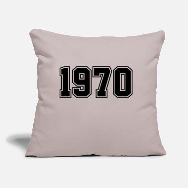 "Year Of Birth 1970 | Year of Birth | Birth Year | Birthday - Throw Pillow Cover 18"" x 18"""