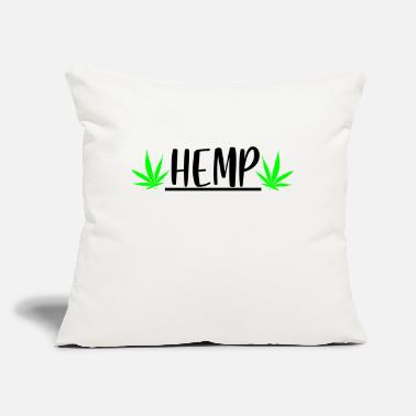 "Hemp hemp with leaf - Throw Pillow Cover 18"" x 18"""