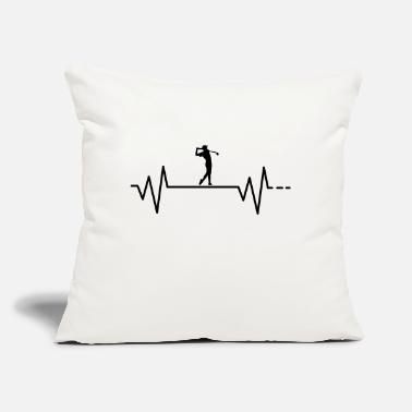"Golf Swing Heartbeat - Golf, Golfing, ball, swing, course - Throw Pillow Cover 18"" x 18"""