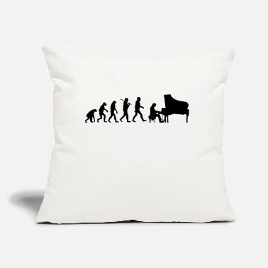 "Piano Evolution Piano - Throw Pillow Cover 18"" x 18"""