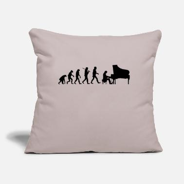 "Evolution Evolution Piano - Throw Pillow Cover 18"" x 18"""