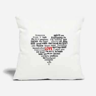 "Love LoveHeart - Throw Pillow Cover 18"" x 18"""