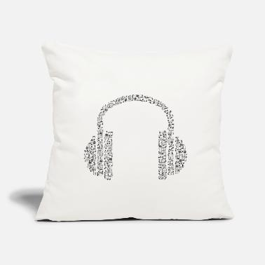 "Note Clue headphone notes - Throw Pillow Cover 18"" x 18"""