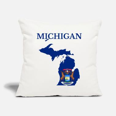 "State Michigan State, United States - Throw Pillow Cover 18"" x 18"""