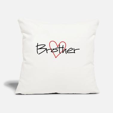 "Brother Heart brother favorite brother gift - Throw Pillow Cover 18"" x 18"""