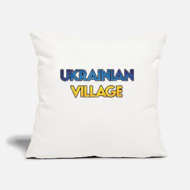 "Ukrainian Village Chicago Neighborhood Clothing - Throw Pillow Cover 18"" x 18"""