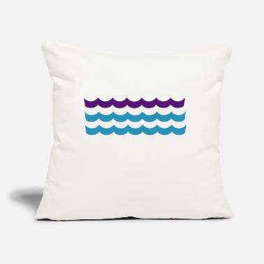 "Waves waves - Throw Pillow Cover 18"" x 18"""