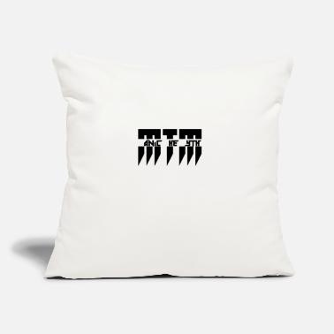 "Manic MTM Manic The Myth logo - Throw Pillow Cover 18"" x 18"""