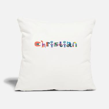 "Christian Christian - Throw Pillow Cover 18"" x 18"""