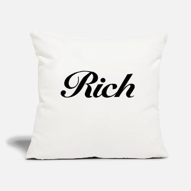 "Rich rich - Throw Pillow Cover 18"" x 18"""