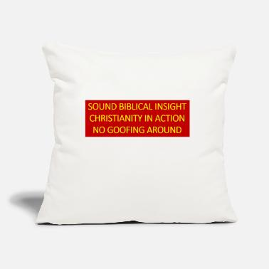 "Insight Sound Biblical Insight - Throw Pillow Cover 18"" x 18"""