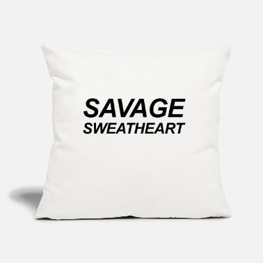 "Sweetheart Savage sweetheart - Throw Pillow Cover 18"" x 18"""