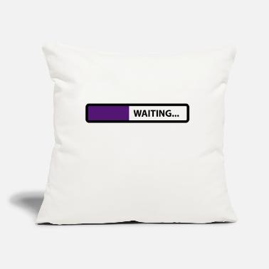 "Wait waiting - Throw Pillow Cover 18"" x 18"""
