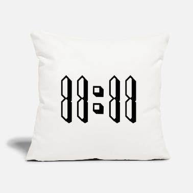 "O-11 11:11 eleven o clock 80s retro numbers - Throw Pillow Cover 18"" x 18"""