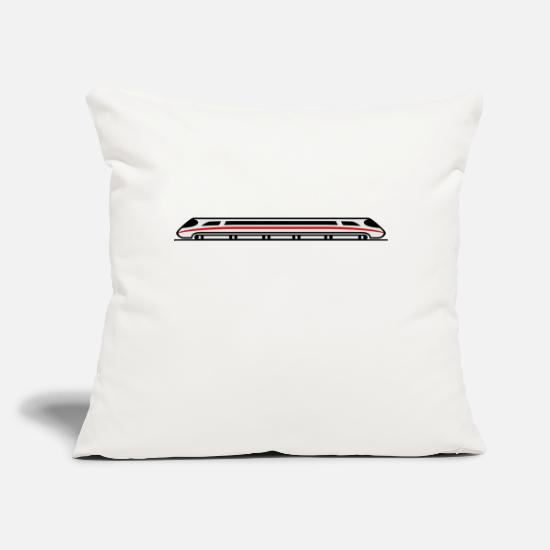 "Locomotive Pillow Cases - Express Train - Throw Pillow Cover 18"" x 18"" natural white"