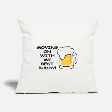 "Move Moving On - Throw Pillow Cover 18"" x 18"""