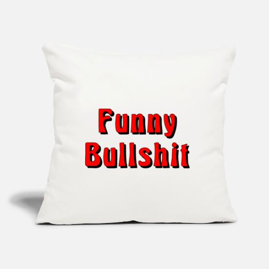 "Franz Pillow Cases - Funny Bullshit - Throw Pillow Cover 18"" x 18"" natural white"