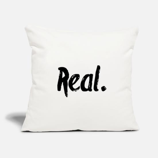 "Real Pillow Cases - Life - Throw Pillow Cover 18"" x 18"" natural white"