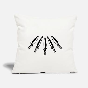 "Urban knives - Throw Pillow Cover 18"" x 18"""