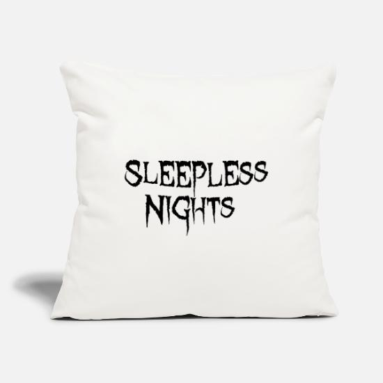 "Sleepl Pillow Cases - Sleeples nights - Throw Pillow Cover 18"" x 18"" natural white"
