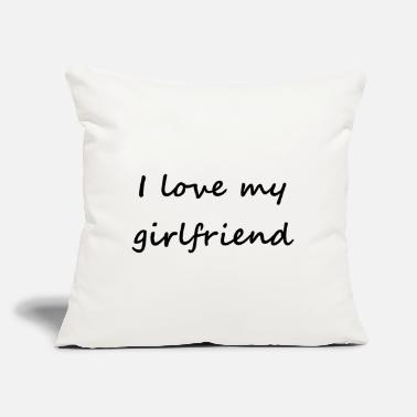 "Corazon I love my girlfriend - Throw Pillow Cover 18"" x 18"""