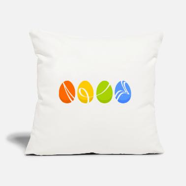 "Easter Egg Easter eggs - Throw Pillow Cover 18"" x 18"""