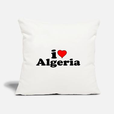 "I love Algeria - Throw Pillow Cover 18"" x 18"""