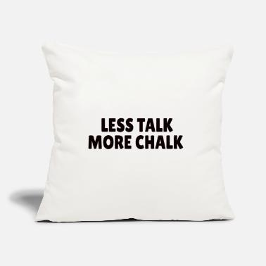 "Search ROCK CLIMBING : Less talk, more chalk - Throw Pillow Cover 18"" x 18"""
