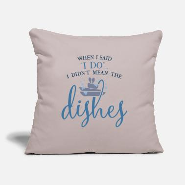 "Dish Dishes - Throw Pillow Cover 18"" x 18"""